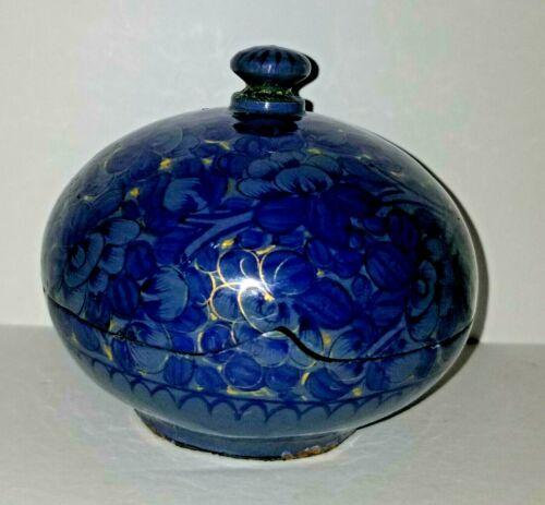 Vintage Japanese Asian Lacquer Ware Floral Trinket BoxIncense Box
