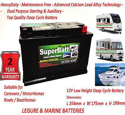 Deep Cycle Leisure Battery 12V 110AH SB LM110 Caravan Motorhome Marine Boat
