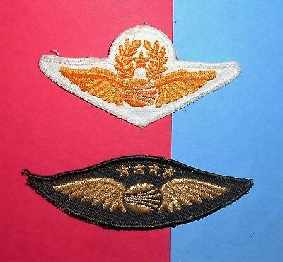 Continental Airlines Vintage Rare Black Captain Pilot Hat Badge Patch Wings Lot