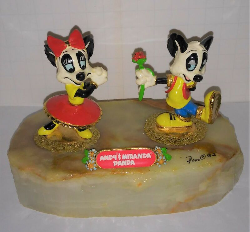 Andy and Miranda Panda Walter Lantz Ron Lee limited sculpture casting colorful
