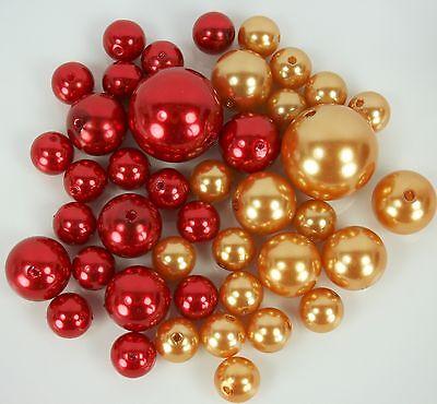 Faux Pearl Beads Bulk (BULK BUY! 330 Elegant Faux Pearl Beads Vase Filler Centerpiece Decor)