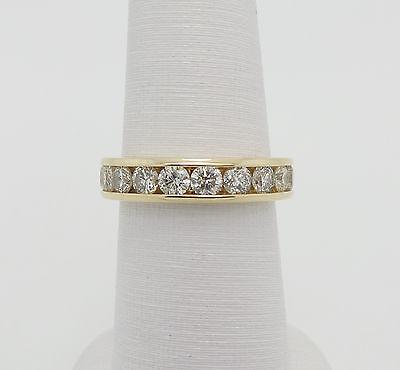 Zales 1.50CT Round Diamond Anniversary Wedding Band Ring 14K Yellow Gold