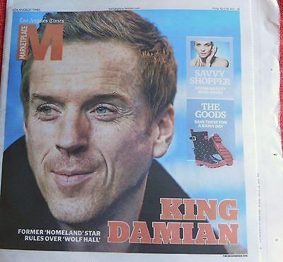 La Times Marketplace Magazine April 2015 Damian Lewis Homeland Wolf Hall