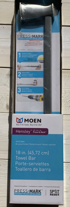 Moen Hensley Brushed Nickel 18 Inch Towel Bar