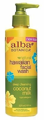 Alba Botanica Hawaiian Coconut Milk Facial Wash 8 oz
