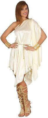 Ladies Greek Goddess Costume Adults Roman Grecian Toga Fancy Dress Womens Outfit