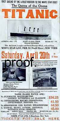 Titanic White Star Line 2nd Voyage That Never Was Ad 13 X 19 Poster Return Nyc