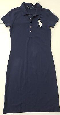 NWT Polo Ralph Lauren  WOMENS MESH BIG PONY DRESS,NAVY/XS,S,M,L #46