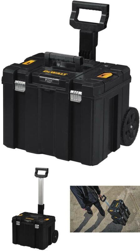DEWALT Tool Box with Wheels Mobile Storage Deep Box Telescop