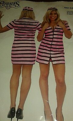 Bad Girl Prisoner  Halloween Costume Sz Medium Dress Up Doc Charades](Halloween Costumes Prisoner Girl)