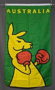 Boxing Kangaroo Vertical flag: printed polyester. 90 x 150 cm. NEW Marrickville Marrickville Area Preview
