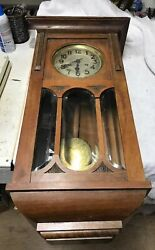 Antique Regulator Clock Gustav Becker SILESIA Working
