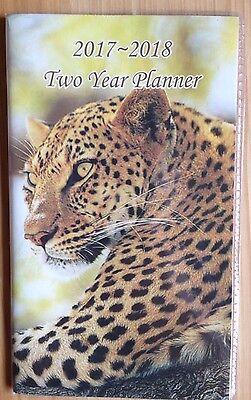 Pocket 2-year Calendar Planner 20172018 Organizer Appointment Book Leopard