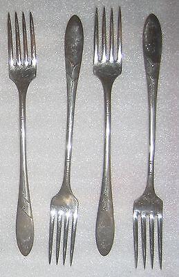 "Dessert Forks 6 1//4/"" Oneida Community Lady Hamilton 1932 silver Set 8 x Salad"