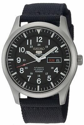 Seiko 5 Sports SNZG15 Automatic Black Dial Nylon Strap Military Watch SNZG15K1