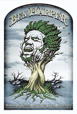 MINT/SIGNED EMEK Ben Harper 2006 Gorge Poster 165/250 POSTER OF THE YEAR