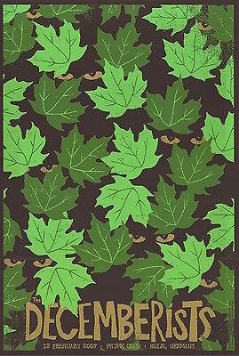 MINT Decemberists 2007 Koln Germany Todd Slater Poster 107/250