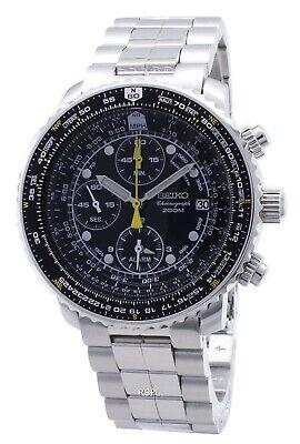 Seiko Pilot's Flight Alarm Chronograph SNA411 SNA411P1 SNA411P Men's Watch