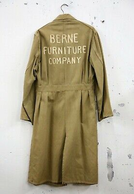 Used, Vtg 40s Berne Furniture Company canvas jacket workwear Union Label Cabinet Maker for sale  Shipping to Nigeria