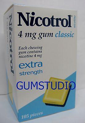 Nicotrol Nicotine Gum 4mg CLASSIC 6 Boxes 630 Pieces FRESH