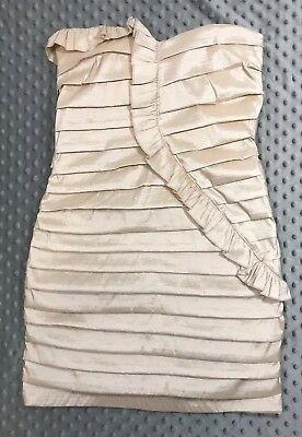 City Triangles Formal Strapless Dress Champagne Sheen Size 13 Prom Wedding Party - Party City Wedding