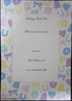 Confezione Da 20 Matrimonio Ringraziamenti Note Con Abbinato Buste 225x155 Mm -  - ebay.it