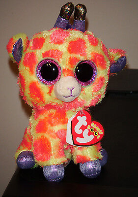 """Ty Beanie Boos ~ DARCI the 6"""" Giraffe ~ 2014 NEW Exclusive ~ MINT with MINT TAGS"""