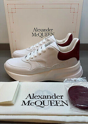 Alexander McQUEEN lace Runner White Red Trainers 9 UK 43 EU Made Italy New Boxed