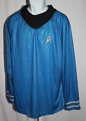 Rubie's Star Trek Mens Large Blue Spock Long Sleeve Halloween Costume Shirt