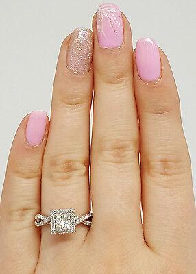 0.77 ct 14K White Gold Princess Cut Diamond Engagement Ring GIA G / VS2 1