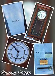 Bulova C3375 Cirrus Oak Pendulum Wall Clock