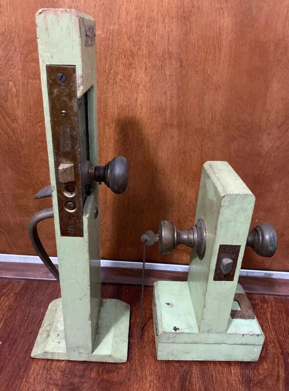 Vintage Mortise Lock Door Hardware Salesman Sample Countertop Store Displays Set