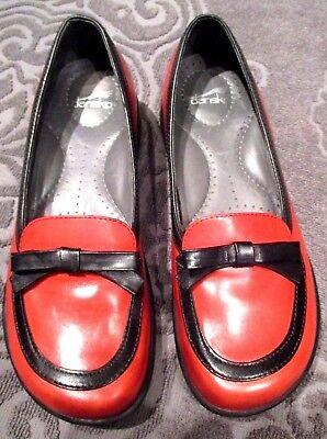 (Dansko Size 36 Shoes Red Black Bow Slip On Clogs Mules Women's )
