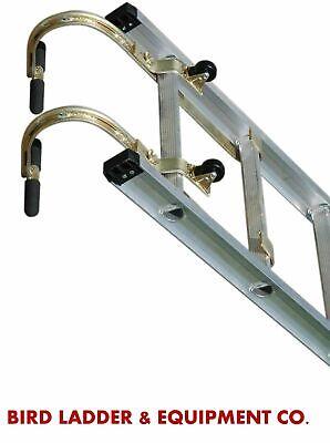 Qty 2 Roof Zone 65005 - Roof Hooks W Wheel - Roof Ridge Extension Ladder Hook