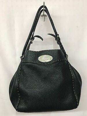 EUC Fendi Selleria Pebbled Leather Shoulder Bag
