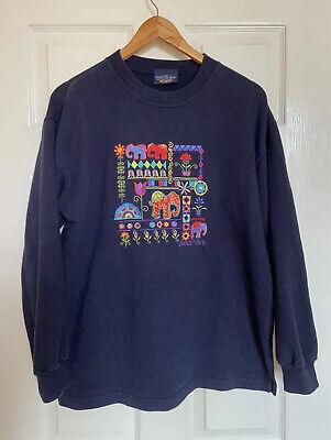 Vintage 90s Navy The Sweater Shop Sweatshirt Jumper Size M Medium