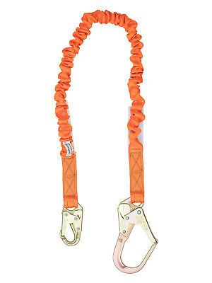 New-single Leg Stretch Shock Absorber Lanyard 1 Rebar Hook 1 Steel Snap Hook