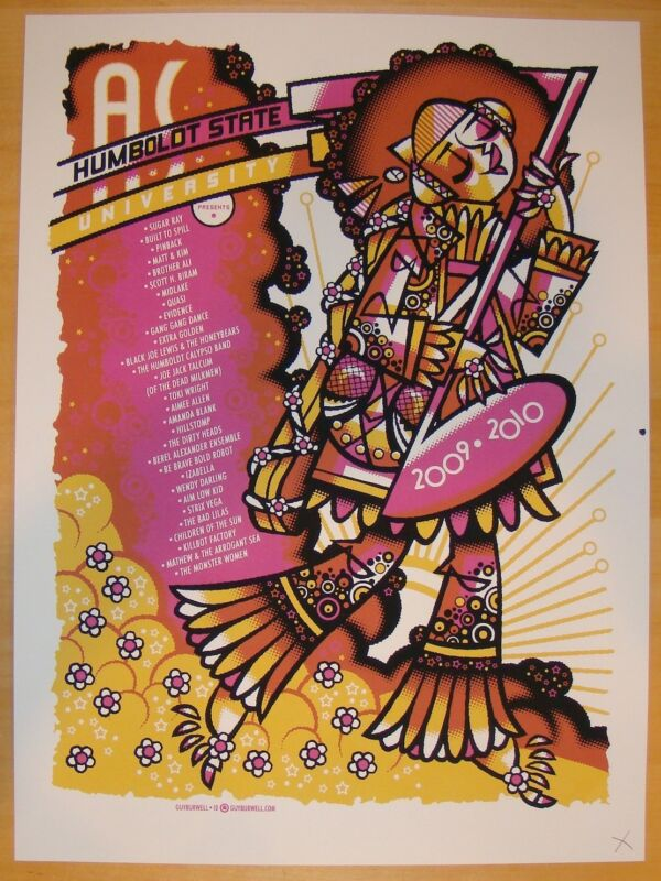 2009 Sugar Ray & Built To Spill - Humbold Silkscreen Concert Poster Guy Burwell