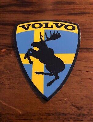 "GENUINE Discontinued Prancing Moose VOLVO 3"" Sweden Edition Vinyl Adhesive Decal"