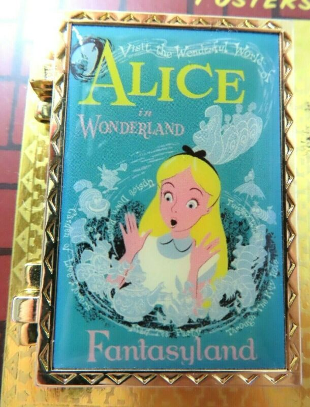 Disney Pin Attraction Posters Alice In Wonderland Mad Tea Party LE 1000 #89538