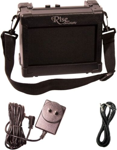 Rise by Sawtooth 5 Watt Amp Portable Electric Guitar Amplifier w Adapter & Cable