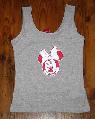 Damen Tank Top Gr. S (36-38) Disney Minnie Maus Träger Shirt grau ()