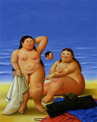 Ölbilder Ölgemälde  Fernando Botero 62x60cm