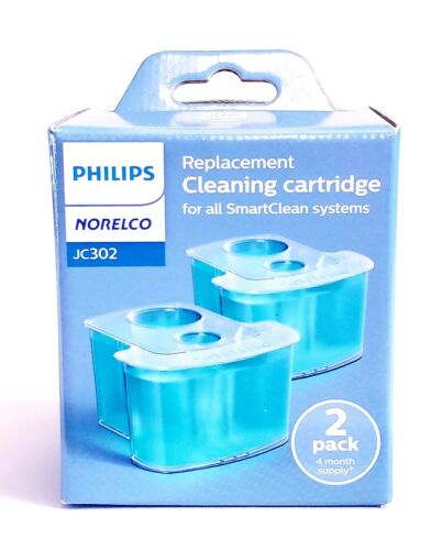 Philips Norelco Jetclean Cartridge, 2-Pack JC302/52