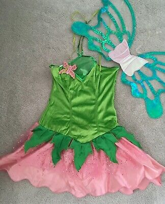 Smiffys Fairy Dress Costume Womens Size 8 - 10 uk Adult Flower Tinkerbell Garden - Adult Fairy Costume