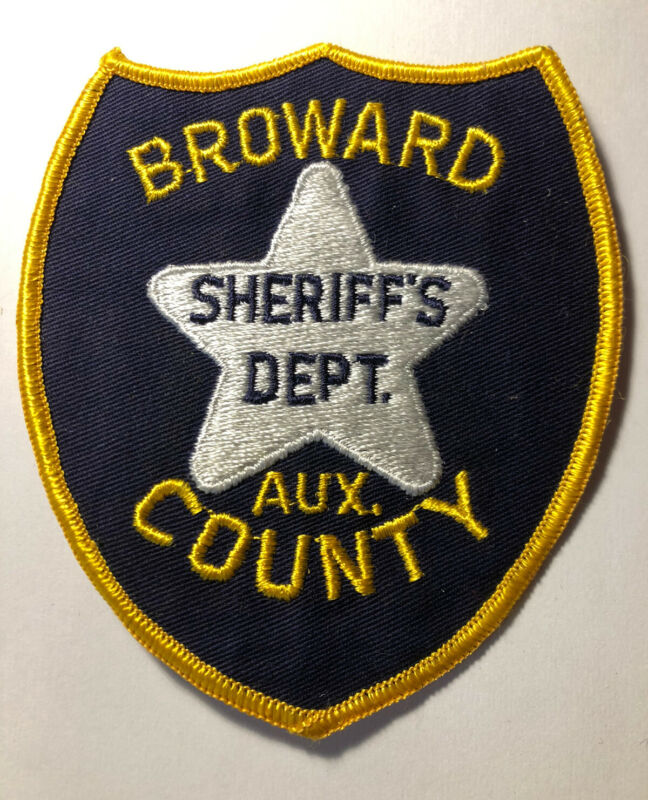 Vintage Broward County Florida Sheriff Auxiliary Patch