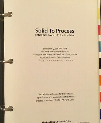 Pantone Binder Solid To Process Chips Color Simulator 1992 Type Visualizer