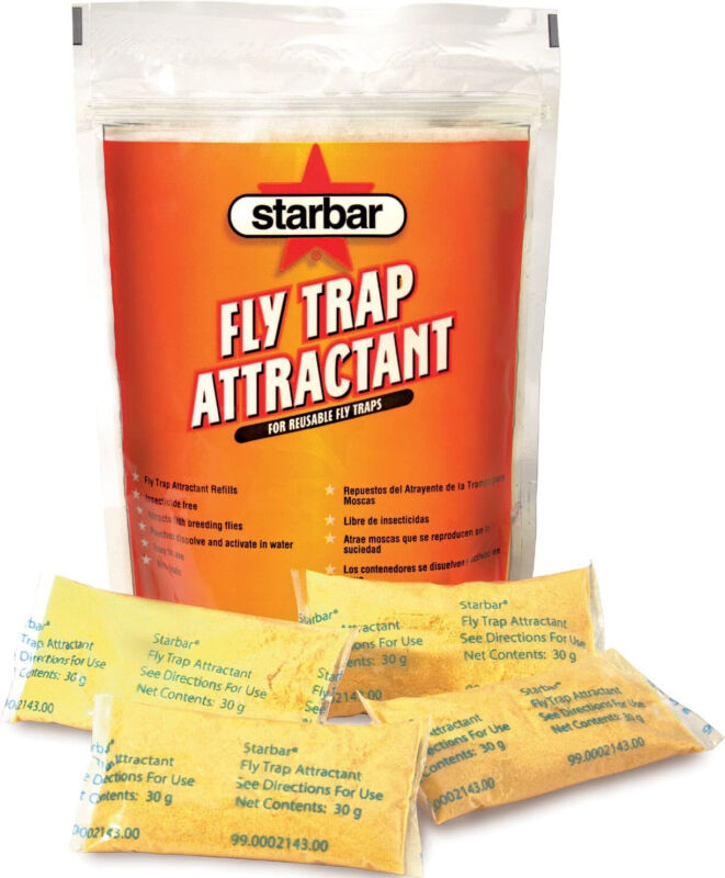 Starbar Fly Trap Attractant Refill For Reusable Fly Traps, 8-30g