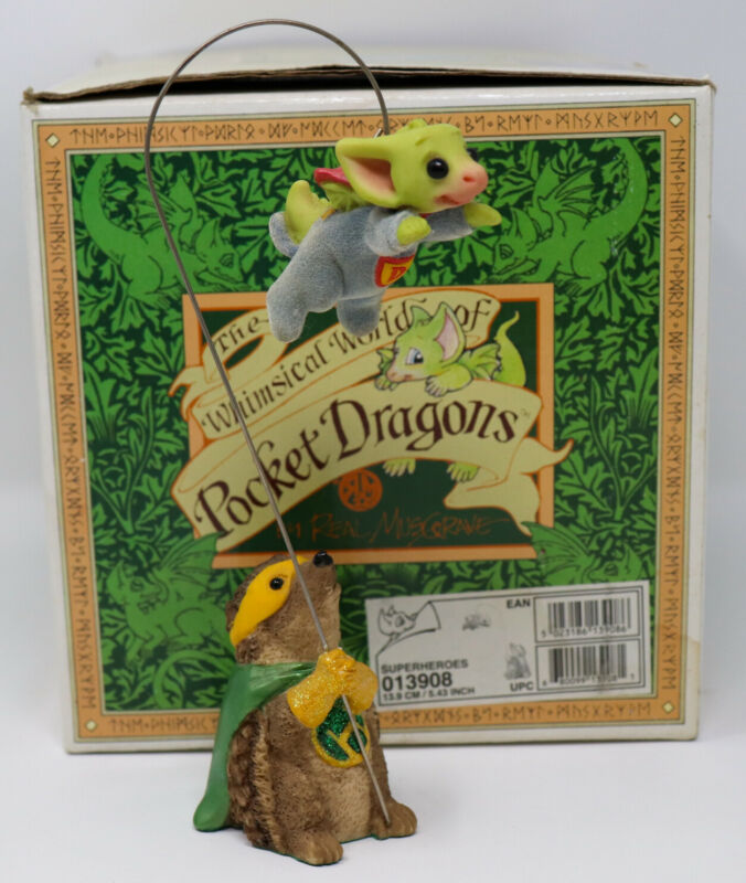 2004 Whimsical World of Pocket Dragons by Real Musgrave ~ Superheroes ~