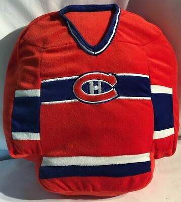 NHL Montreal Canadiens Habitants/Habs Torso-n-Jersey Red Seat Cushion/Pillow New, used for sale  Canada